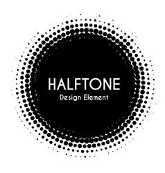 halftone circle design element black vector image