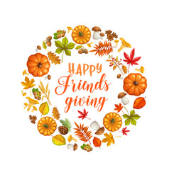 Happy friendsgiving card vector