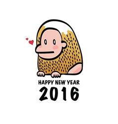Happy New Year 2016 Monkey vector image