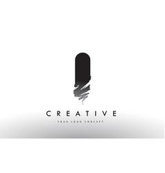 I brushed letter logo black brush letters design vector