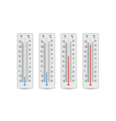 Indoor home office thermometer hot and vector