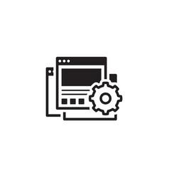 Landing page generator icon flat design vector