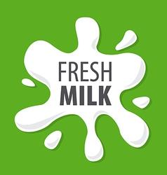 Logo splashes of natural milk vector