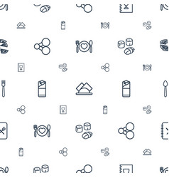 menu icons pattern seamless white background vector image