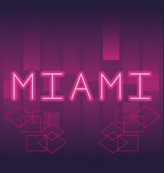 Miami neon advertising vector