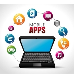 mobile apps design vector image
