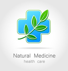 Natural medicine logo vector