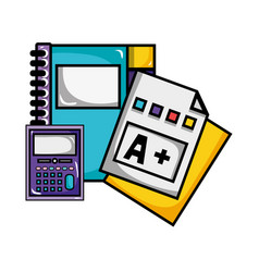 Notebook and calculator object with qualification vector