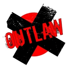 Outlaw rubber stamp vector