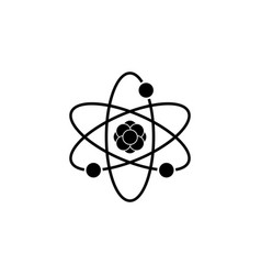 pictograph of atom black vector image