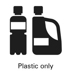 plastic only icon simple style vector image