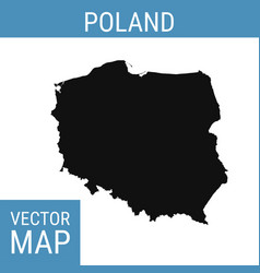 Poland map with title vector