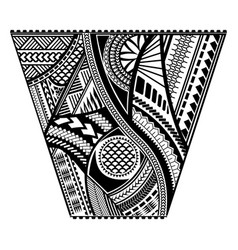 polynesian tattoo style sleeve design vector image