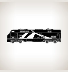 rail transport vehicle on light background vector image