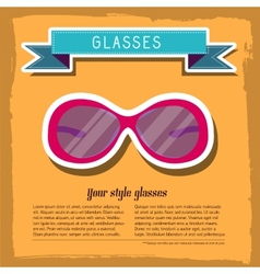 retro glasses background concept vector image