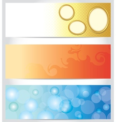 set - abstract color horizontal backgrounds vector image