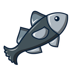 small fish icon cartoon style vector image
