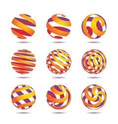 Sphere design elements vector