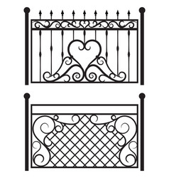 steel railing panels that include balls flowers vector image