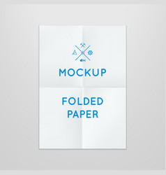 Template of folded poster placed vector