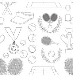 Tennis set pattern vector image vector image