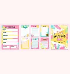 weekly and daily planner to buy and to do lists vector image