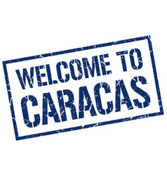 Welcome to caracas stamp vector