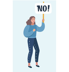 women protesters with no signs vector image