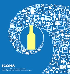 bottle sign symbol Nice set of beautiful icons vector image vector image