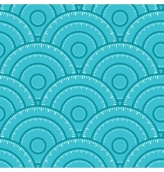 Circle With Ruler Shape Seamless Pattern vector image vector image