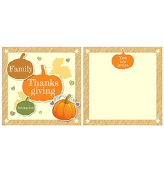 Event Thanksgiving Cute family thanksgiving day vector image vector image