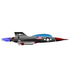 Jet-fighter on white vector