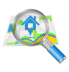 Search for house concept vector image