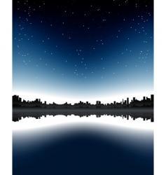 urban skyline night vector image vector image