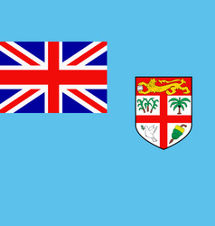 flag of fiji vector image