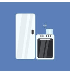 Fridge And Stove vector image vector image