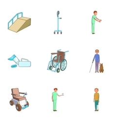 Health protection icons set cartoon style vector image
