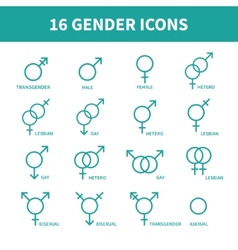 Sexual orientation gender web iconssymbolsign in vector image