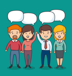 talking people design vector image