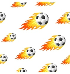 Fire football background vector image vector image