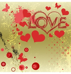 Grungy style love concept vector image vector image