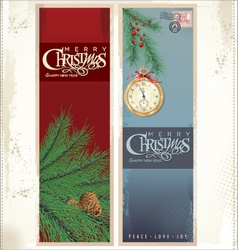 Merry christmas banner vertical background vector