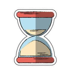 cartoon sand clock time icon vector image