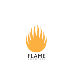 flame symbol vector image vector image