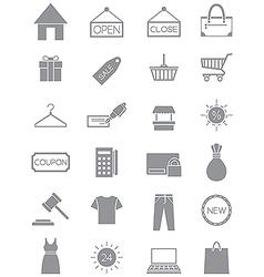 Gray shopping icons set vector image vector image