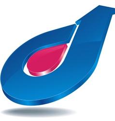 logo arrow blue vector image vector image