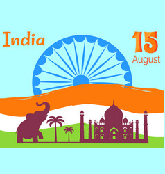 15 august independence day in india holiday poster vector