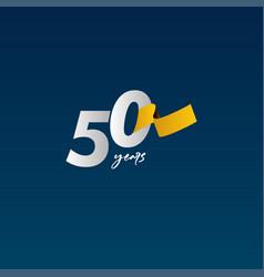 50 years anniversary celebration white blue vector