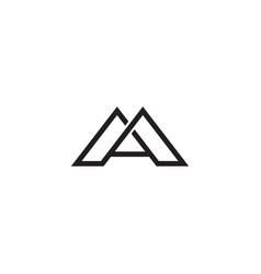 A m letter logo lettermark am monogram typeface vector
