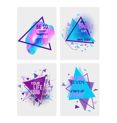 abstract motivational set of banners cards vector image